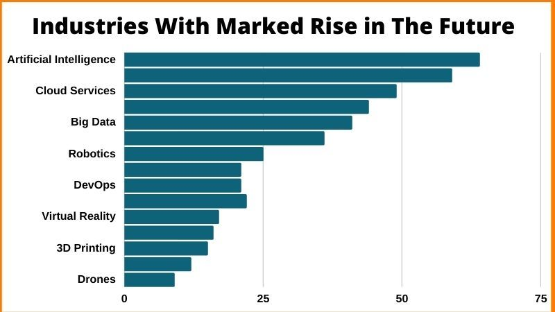 Industries with marked rise in the future.