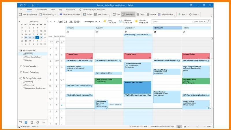 Microsoft Outlook Calendar Logo