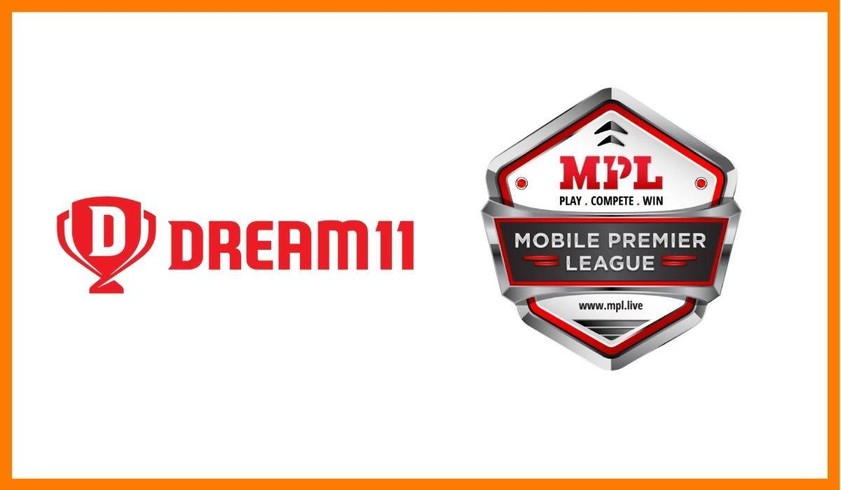 The logos of Dream11 and Mobile Premium League (MPL)