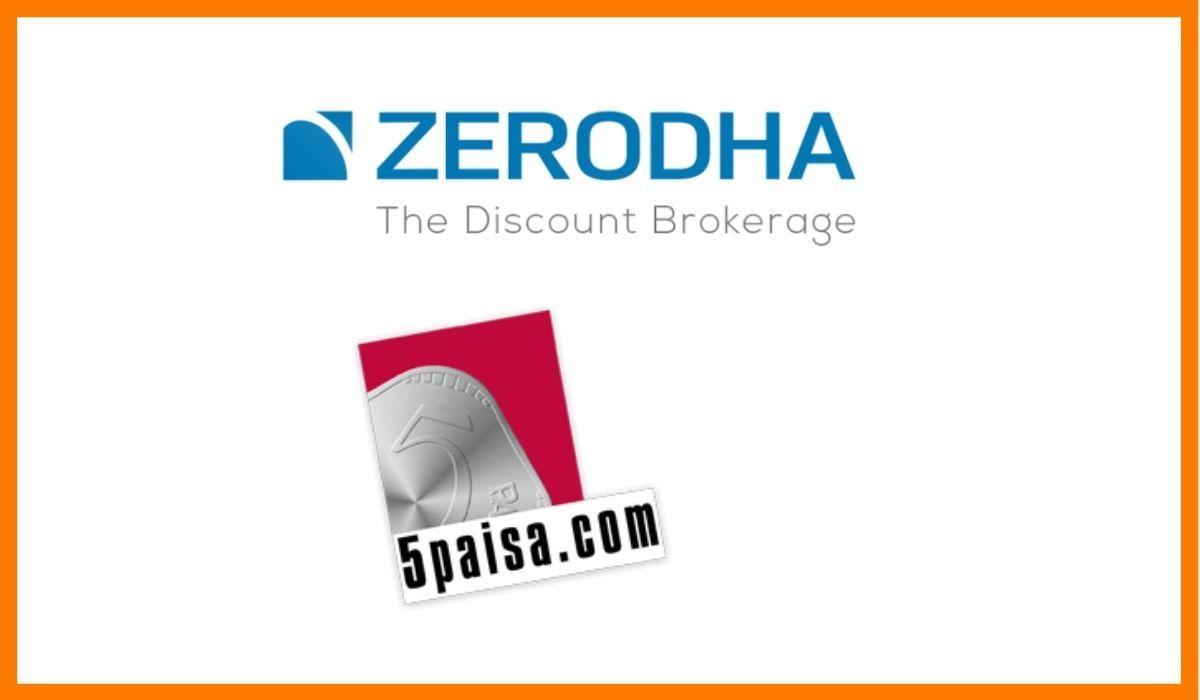 Zerodha vs. 5paisa logo