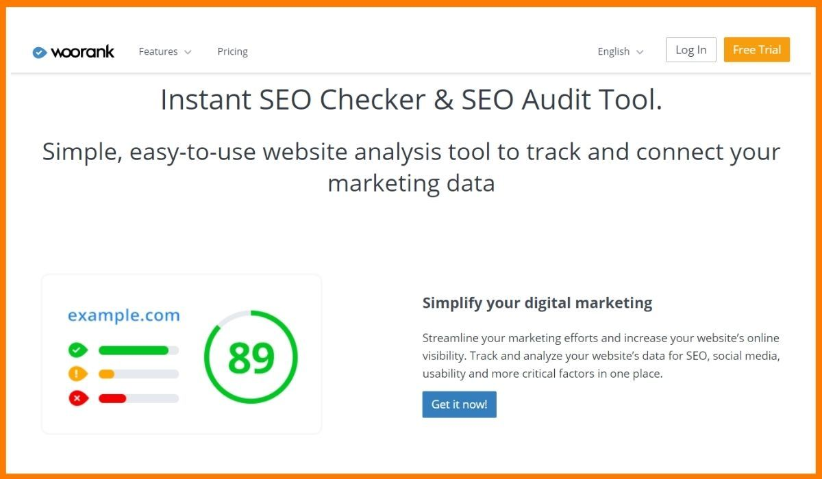 Woorank SEO Audit Tool