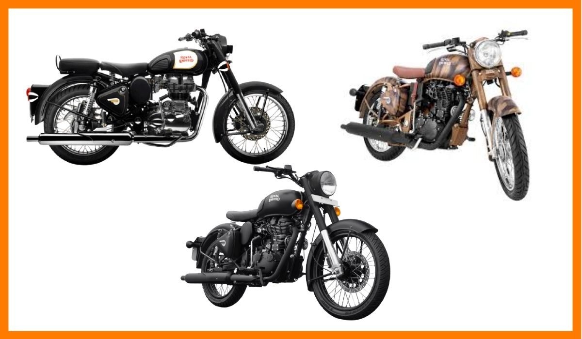 The Royal Enfield motorcycles adapted from classics