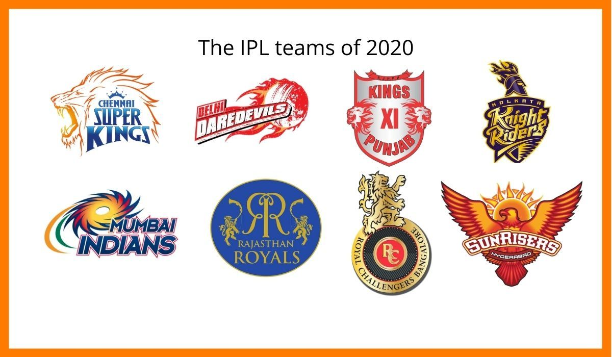 The IPL teams of 2020.