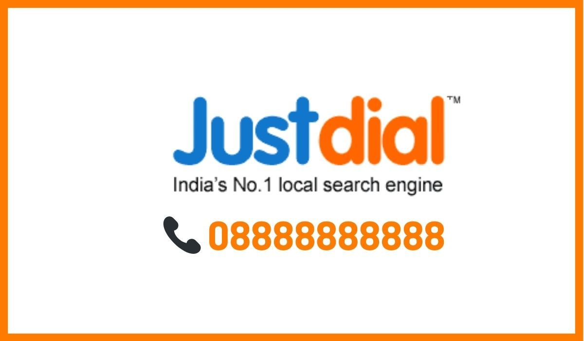 Justdial logo and number.