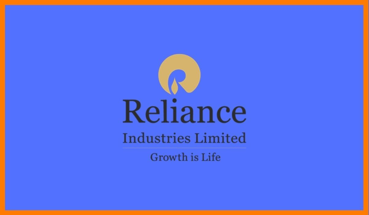 The logo of Reliance Industries.