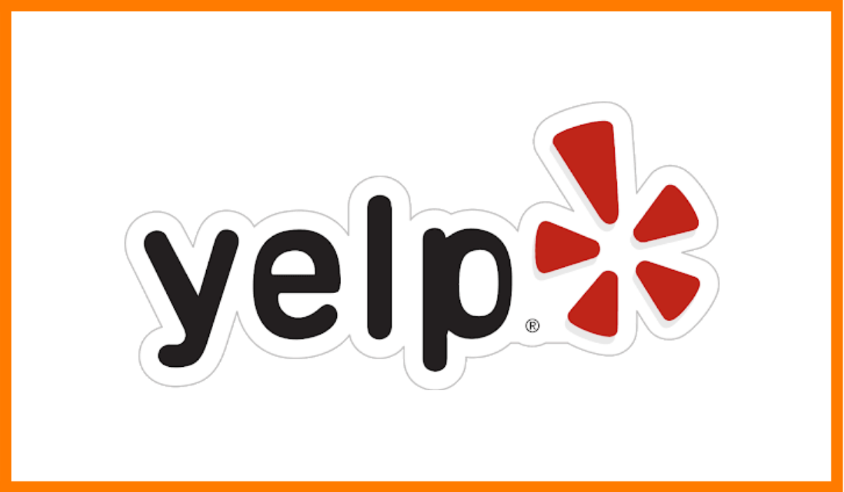 The logo of Yelp.
