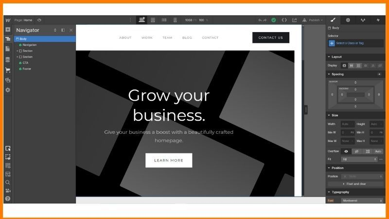 Webflow Dashboard