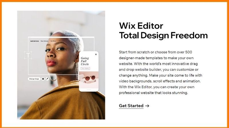Wix Editor gives Total Design Freedom