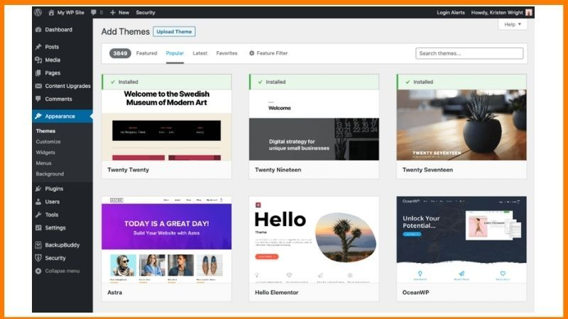 There are several themes on Wordpress