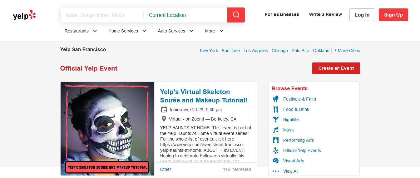 event listing portals in india_startuptalky