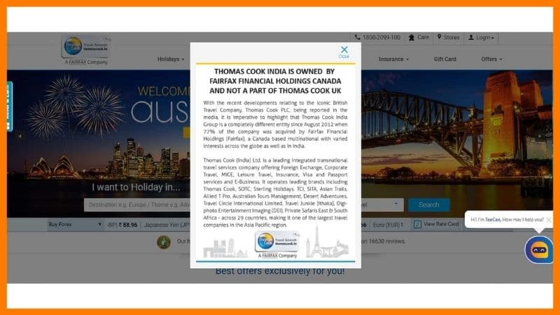 Thomas cook bankruptcy case study