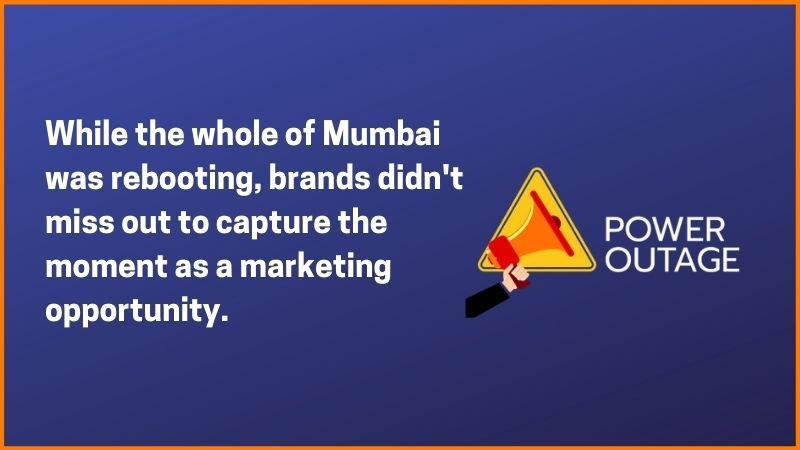 While the whole of Mumbai was rebooting, brands didn't miss out to capture this moment as a marketing opportunity