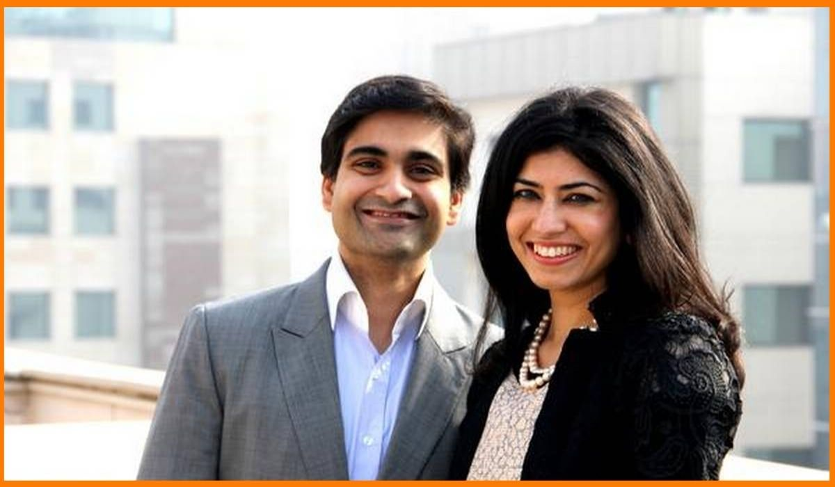 The co founders of CashKaro Rohan and Swati Bhargava