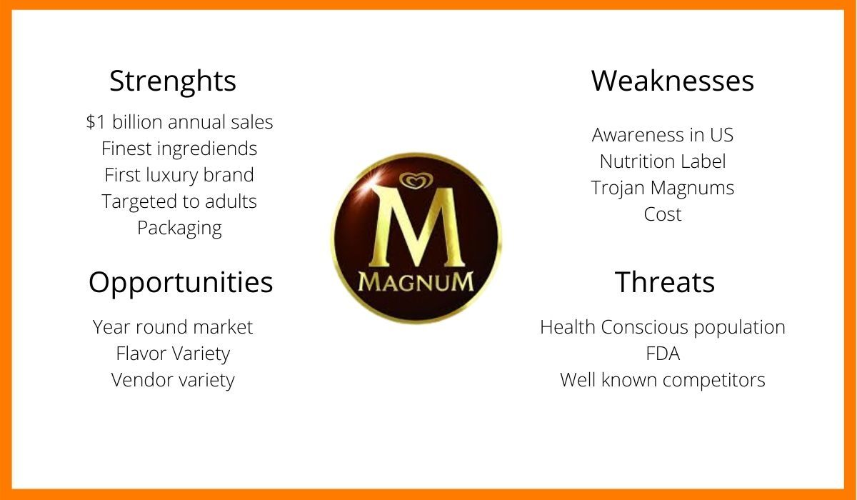 The strengths, weaknesses, opportunity, threats of Magnum