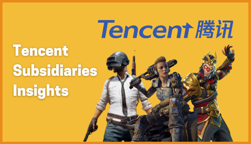 Tencent : Growth & Subsidiaries