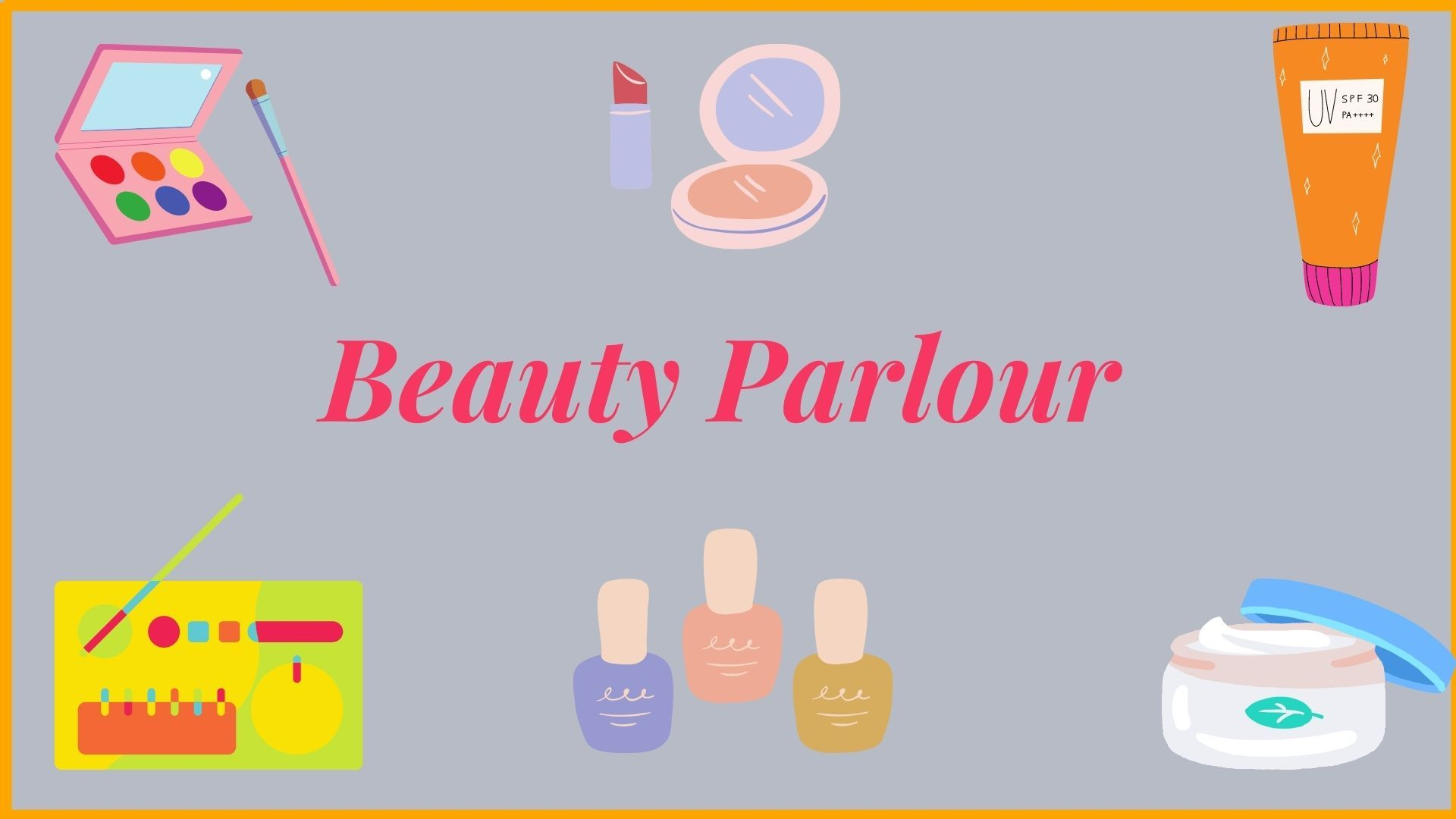 beauty parlours and items