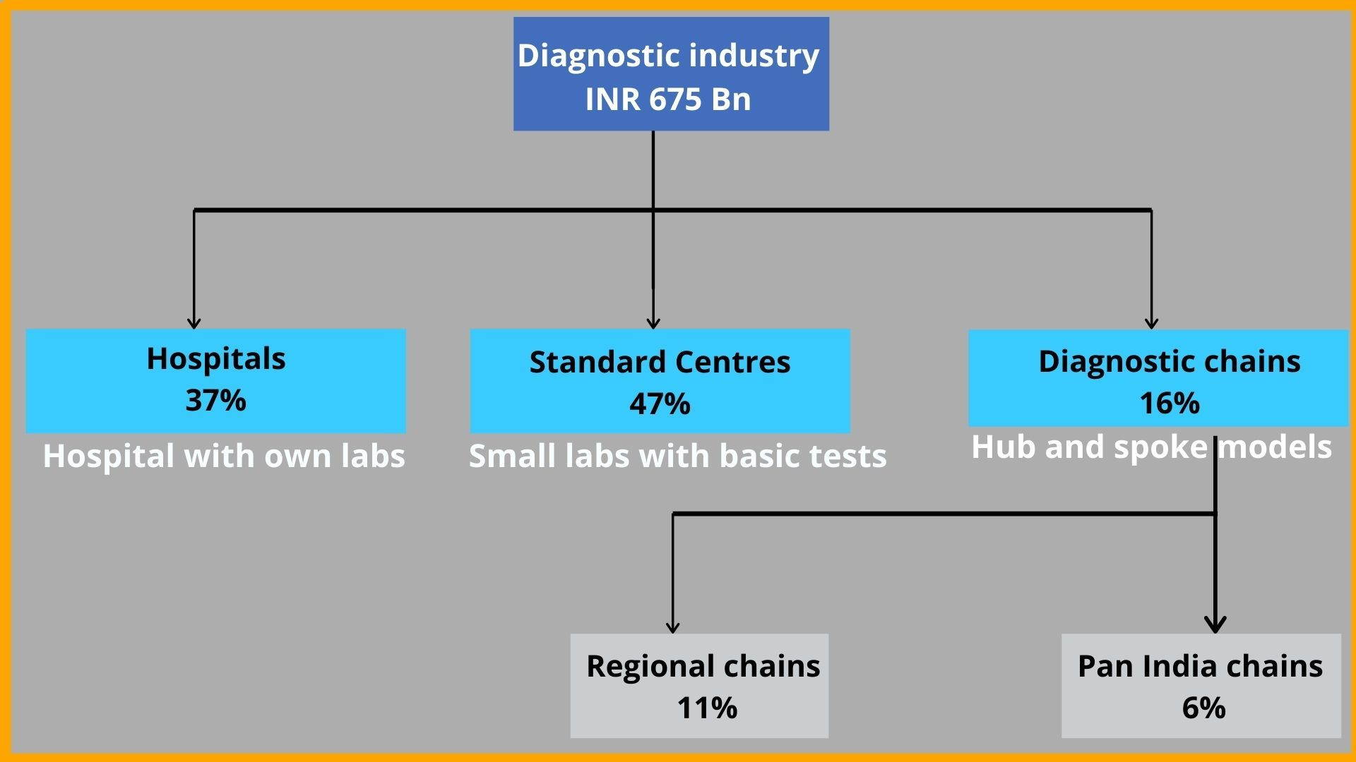 Indian diagnostic industry – Market structure