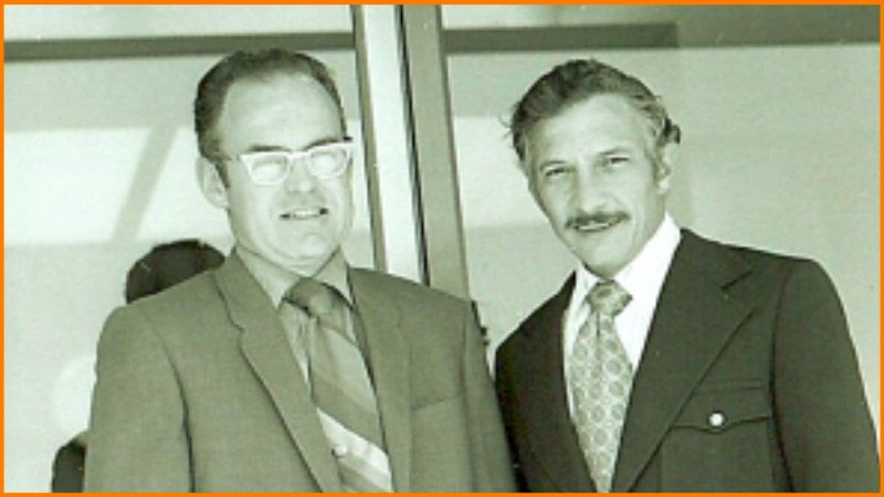 Gordon Moore and Robert Noyce, Founders of Intel