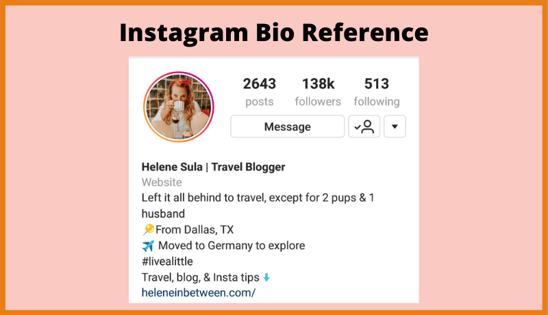 Instagram Bio Reference