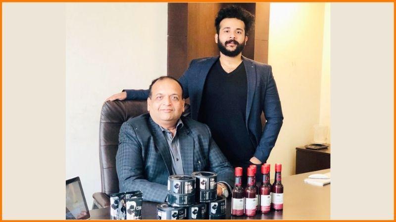 Karan with his father Raj Gupta