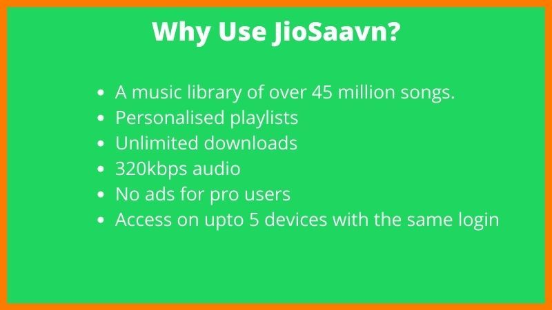 Advantage Of JioSaavn