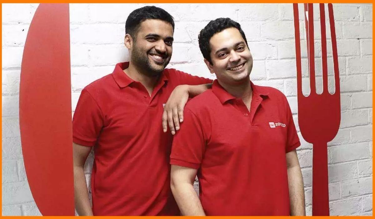 The founders of Zomato, Deepinder Goyal and Pankaj Chaddah