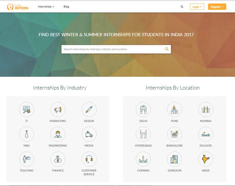 internship websites in India_startuptalky