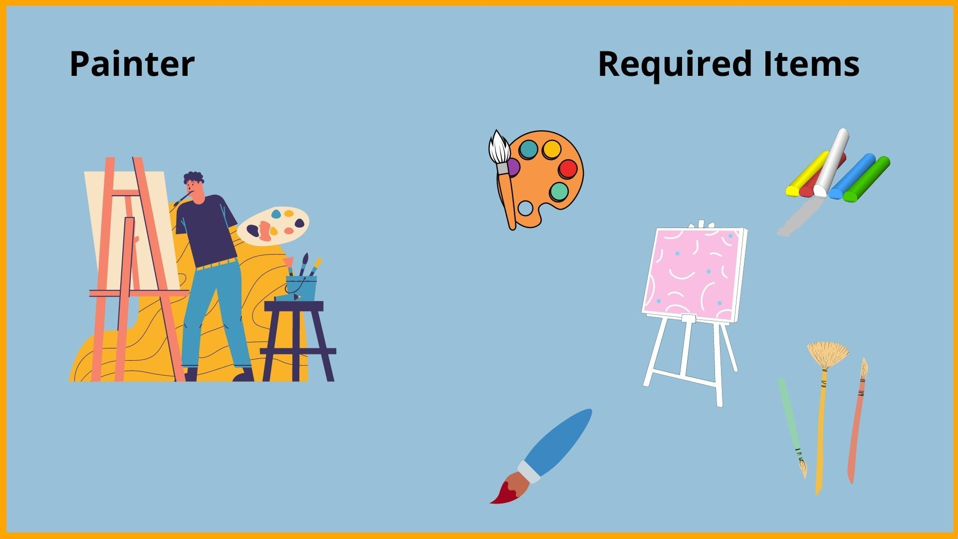 Painter and required items