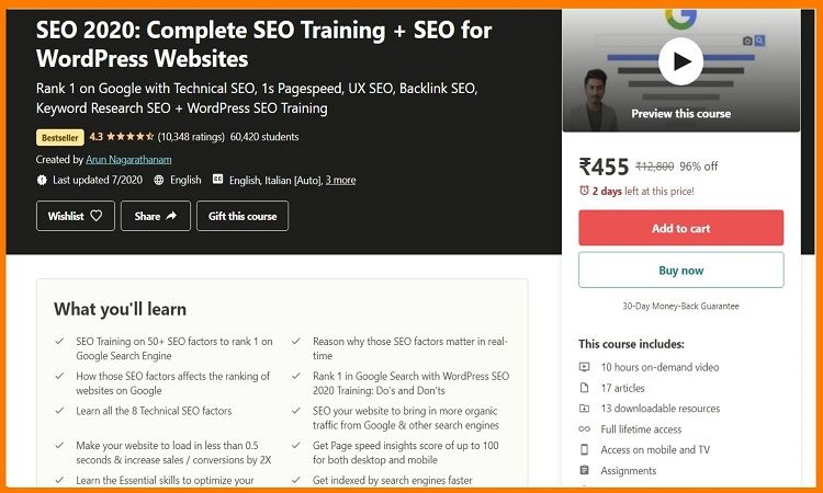 Best SEO Course on Udemy