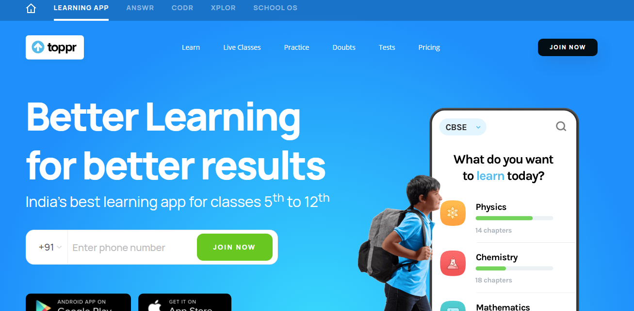 Toppr Learning Application