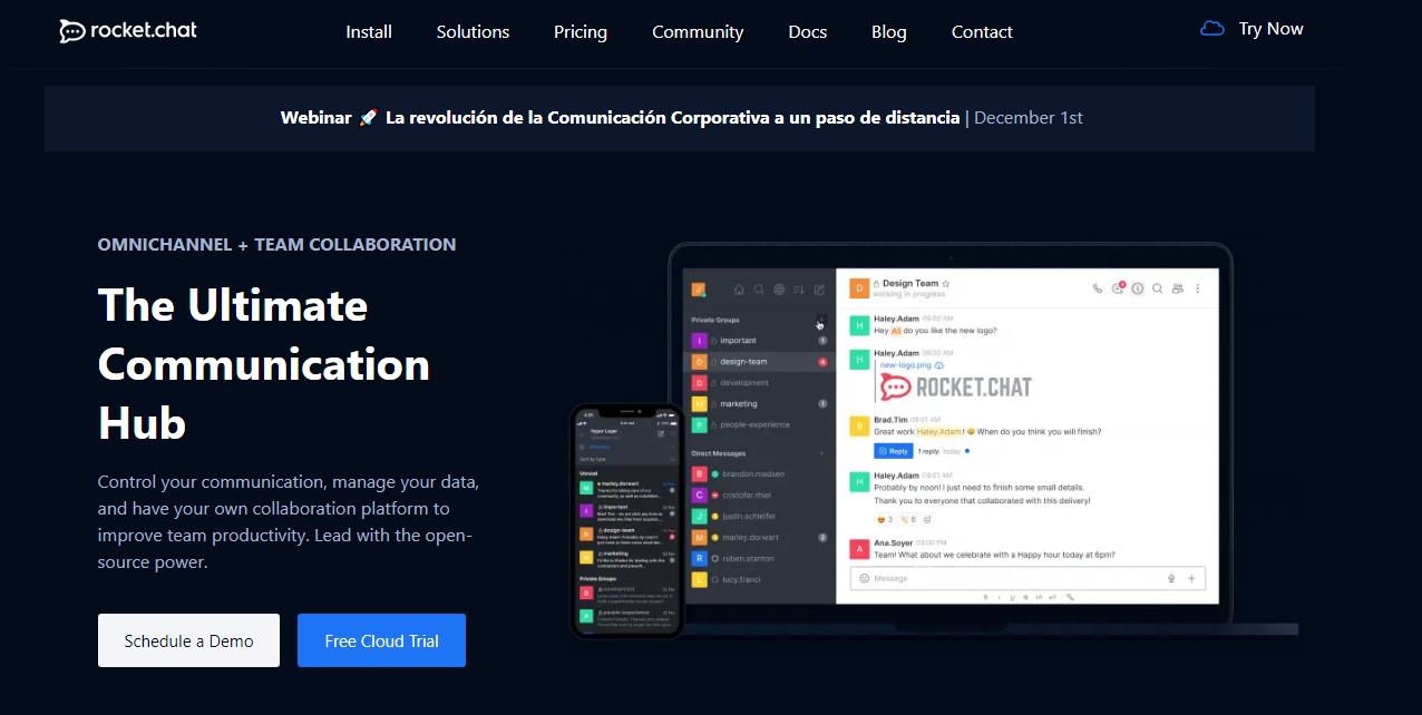 Rocket.chat communication Platform