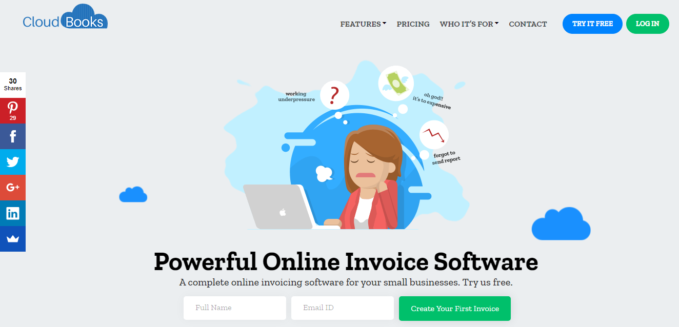 CloudBooks Bookkeeping and Invoicing Tool
