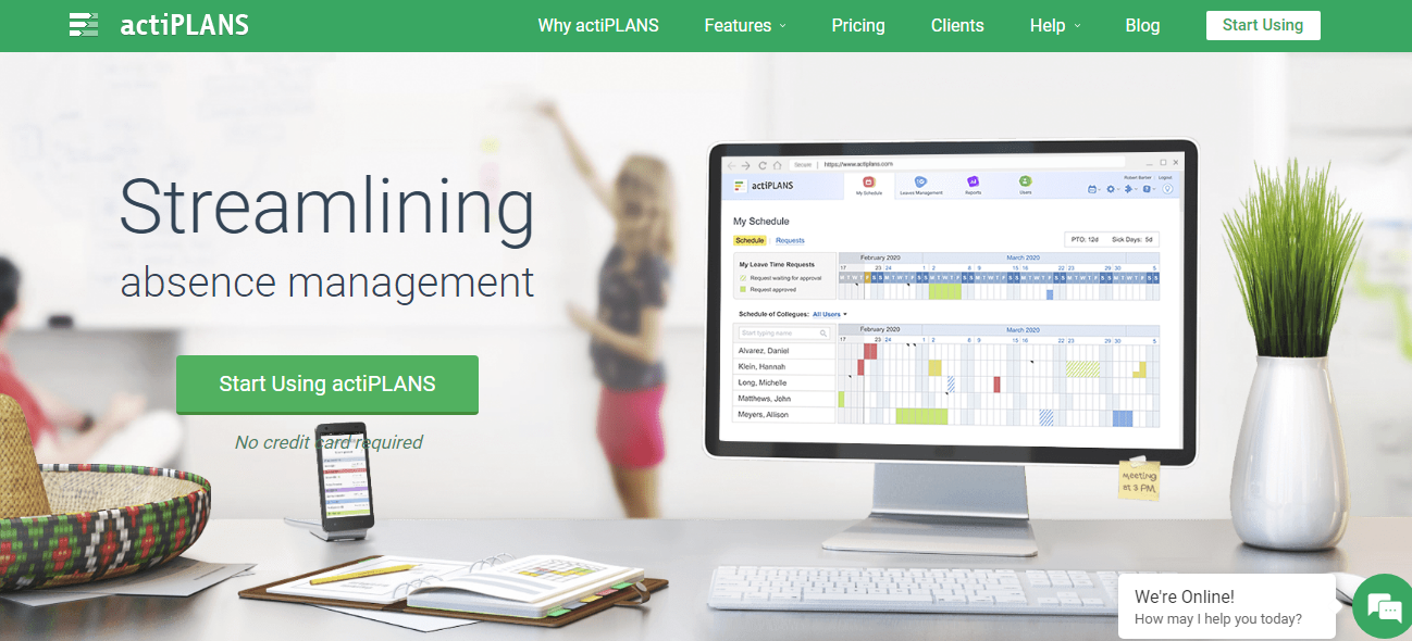 actiPLANS Employee Scheduling Application