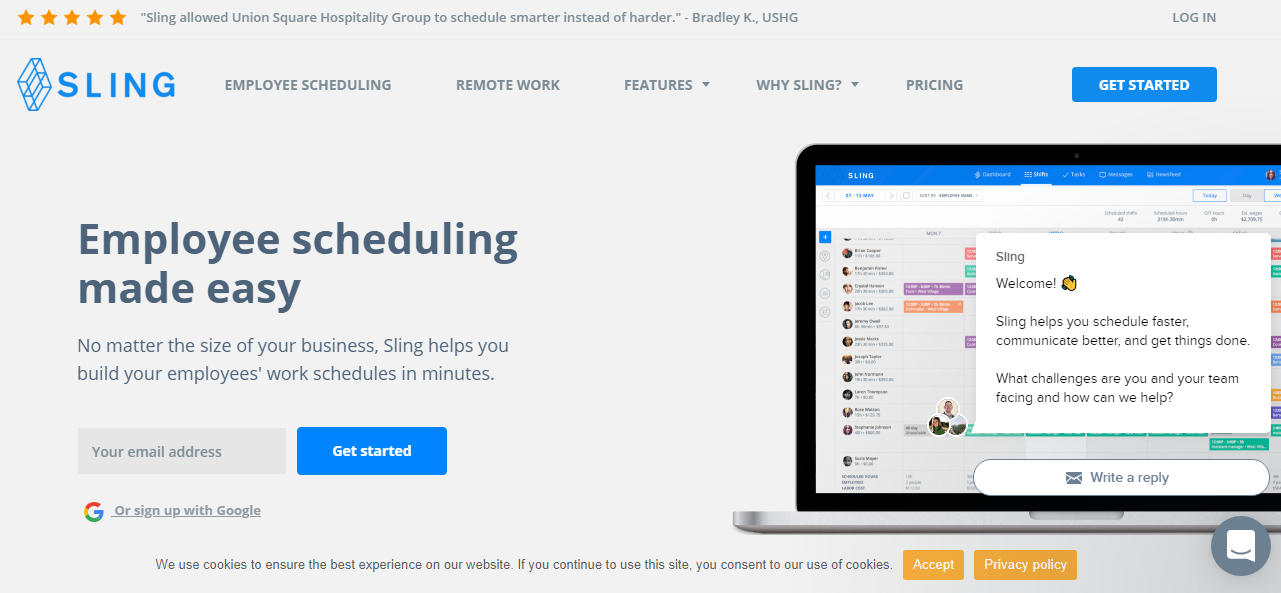 Sling Employee Scheduling Application