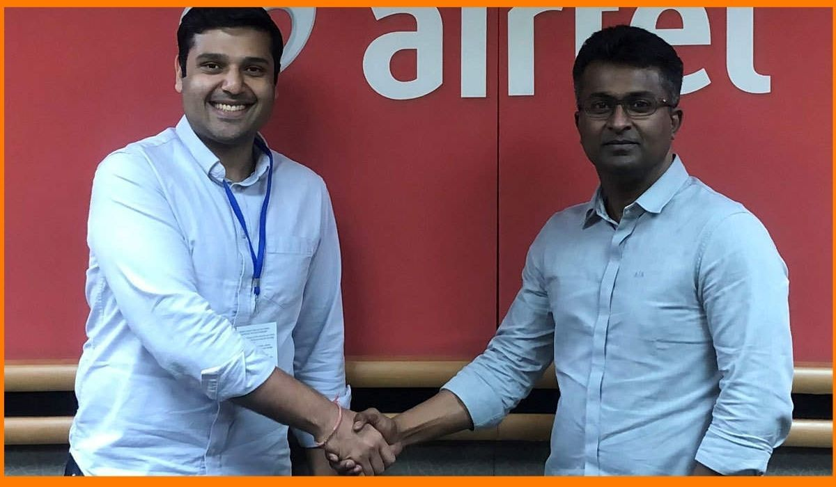 Madhav Krishna, Founder and Chief Executive Officer, Vahan with Adarsh Nair, Chief Product Officer, Airtel