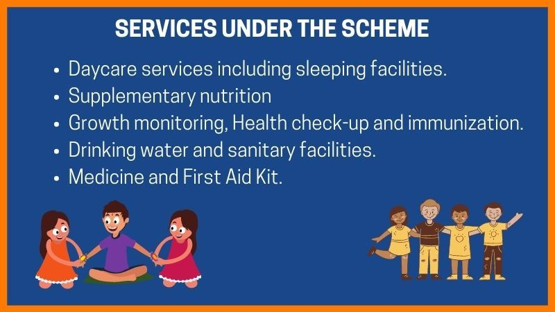 Services under Rajiv Gandhi National Creche