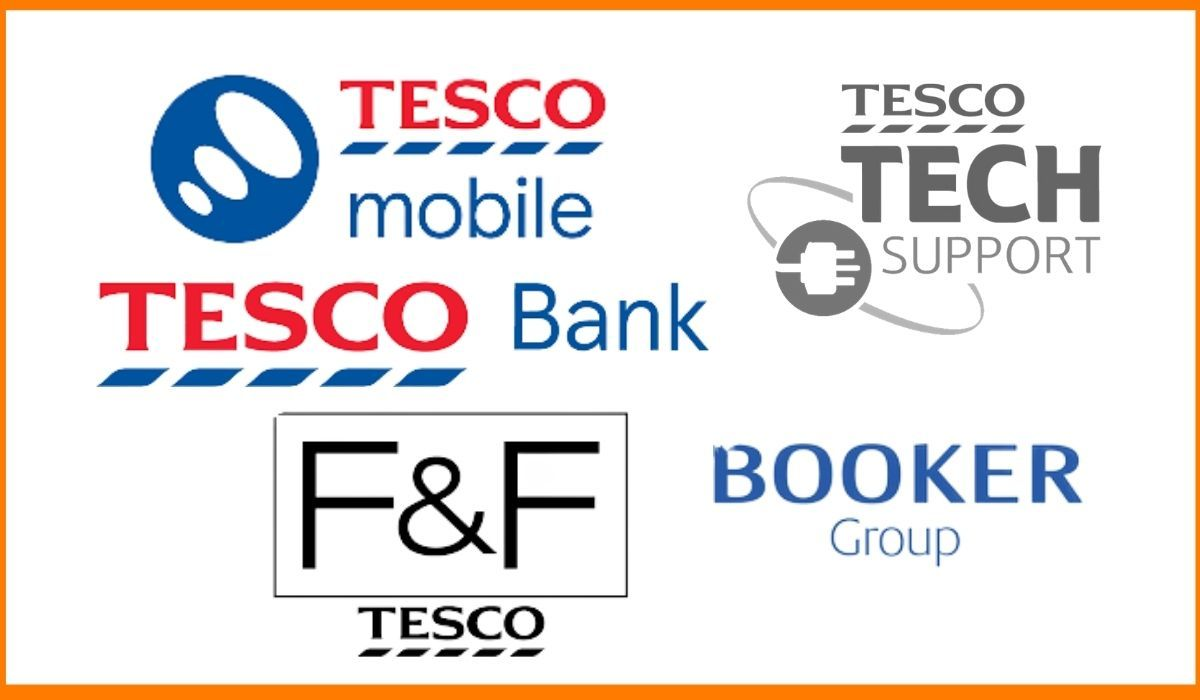 The logos of the subsidiaries of Tesco