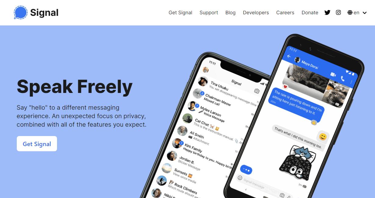Signal Messaging Application