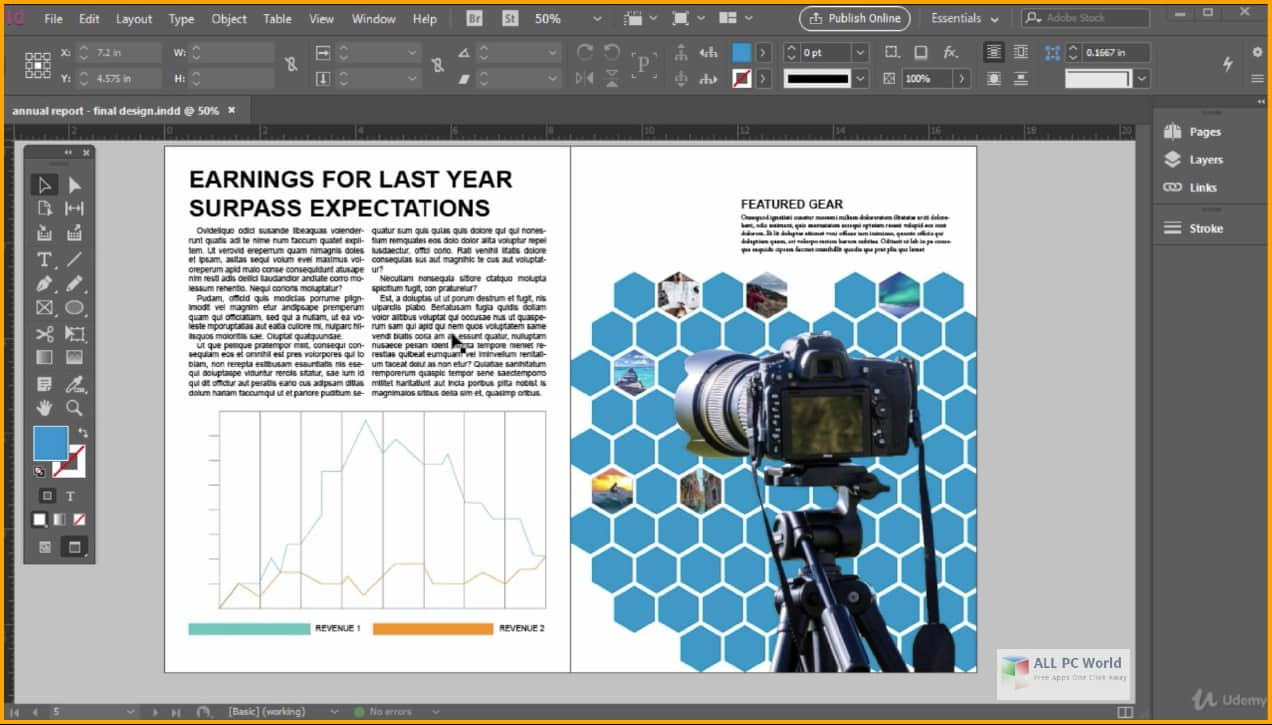 Adobe Indesign for both Mac and PC users