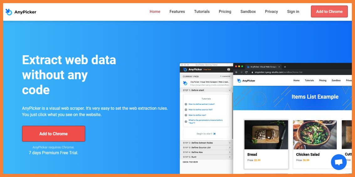 AnyPicker-no-code-web-scraping-Startuptalky