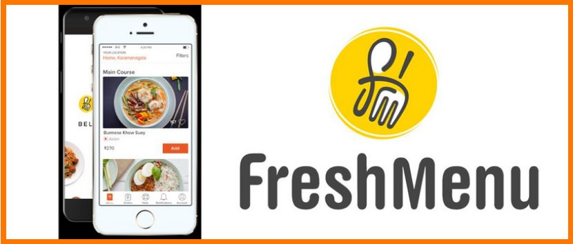 Freshmenu mobile app