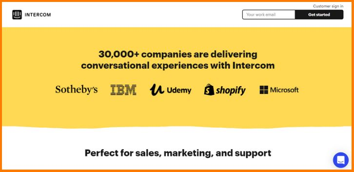 Intercom Marketing and Customer Support