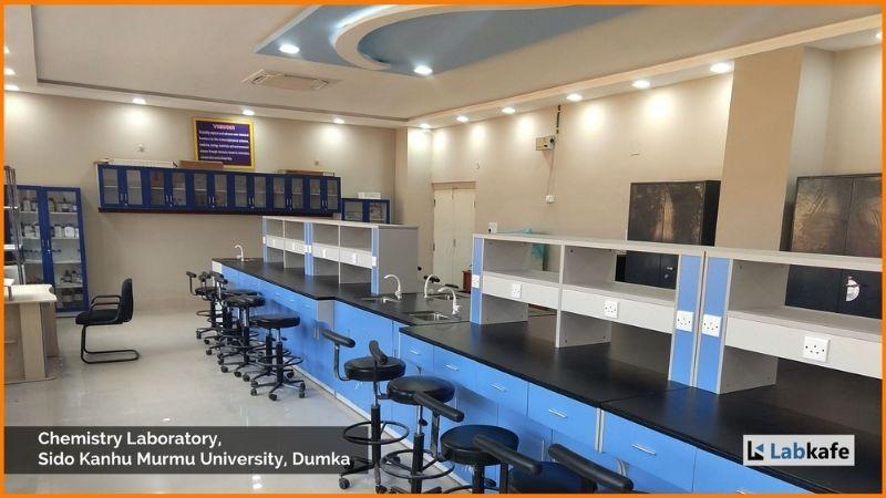 Lab kafe, laboratory equipment installed at Sido Kanhu Murmu University.