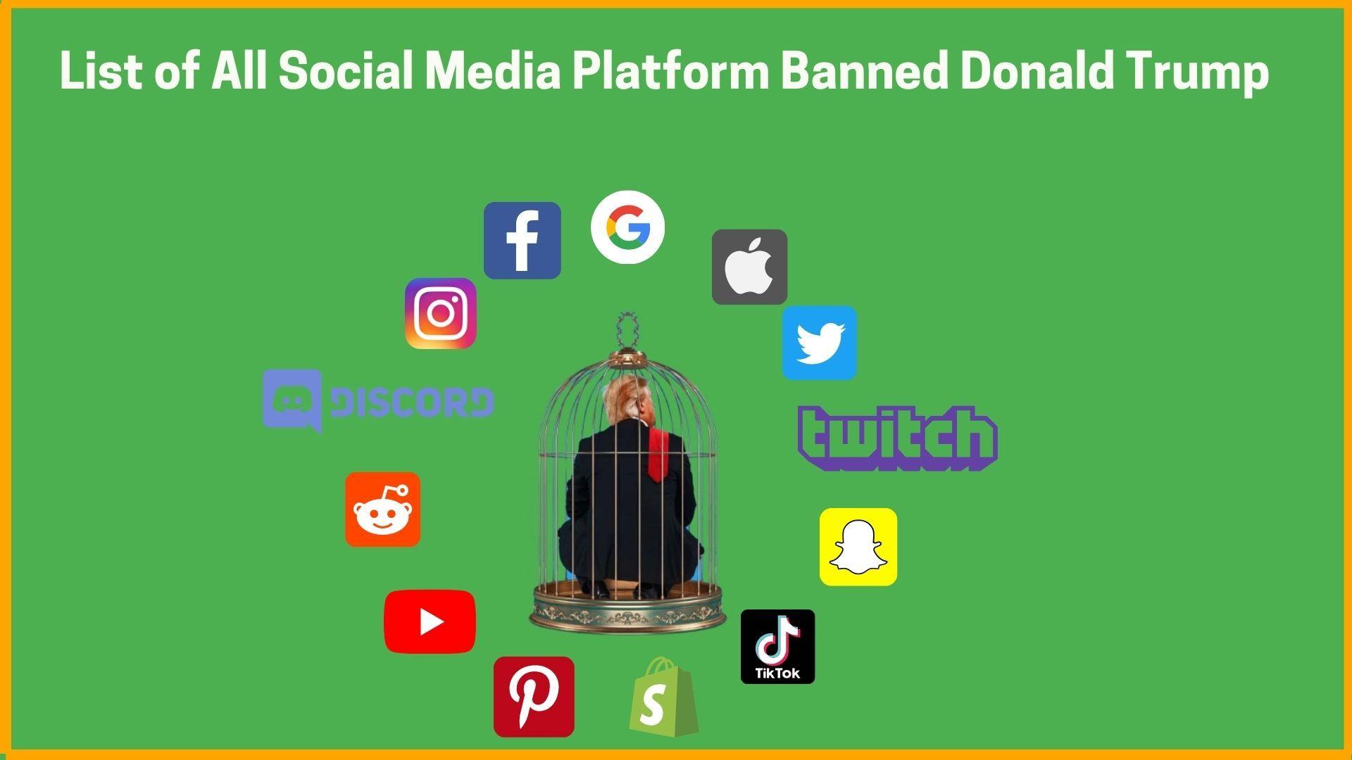 List of All Social Media Platform Banned Donald Trump