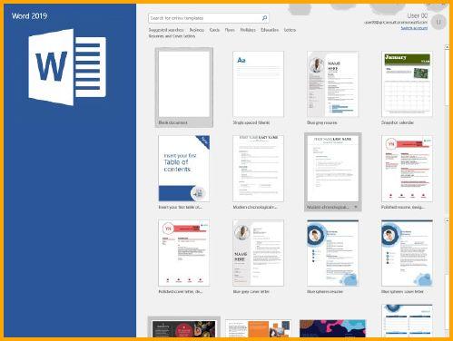 Microsoft Word Dashboard