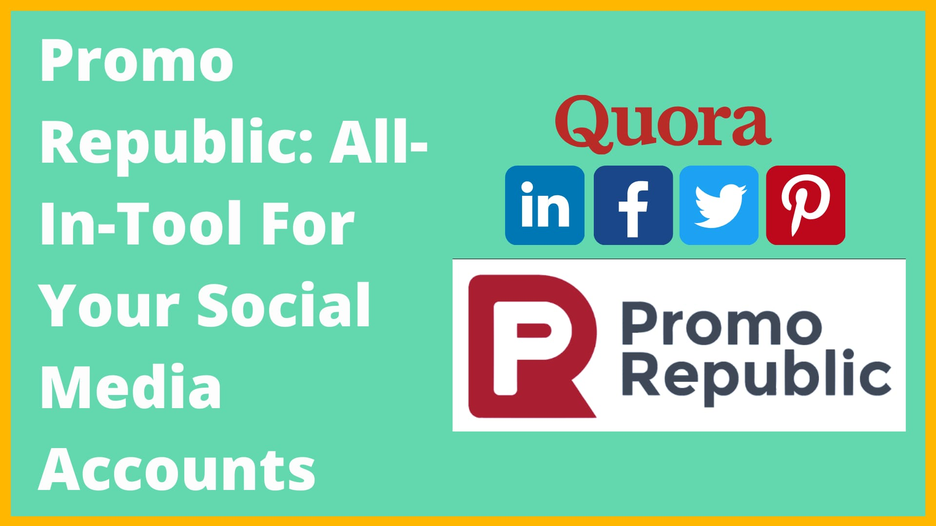 Promo Republic: All-In-One Tool for Your Social Media Accounts