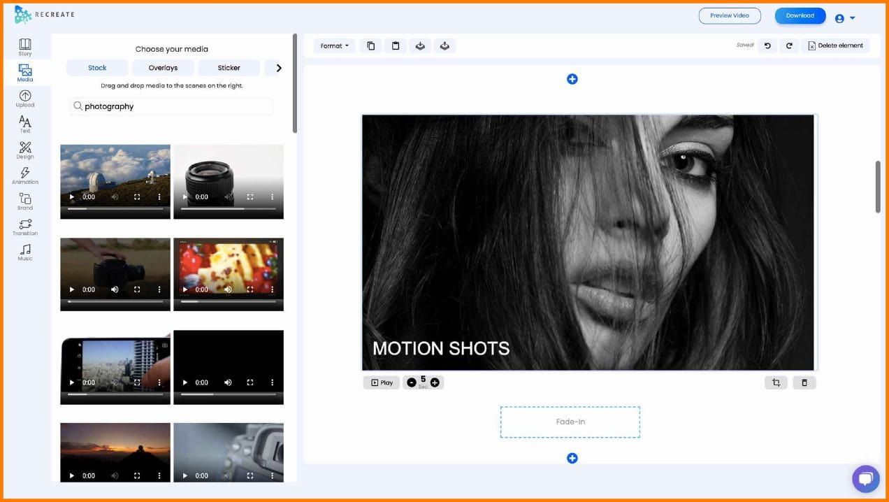 Recreate dashboard for video creation