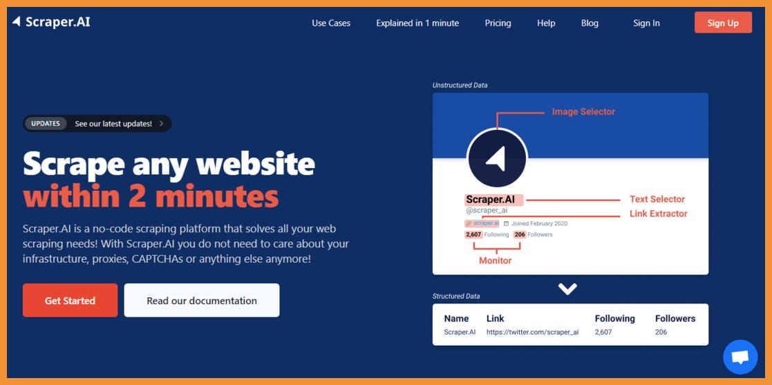 ScraperAI-no-code-web-scraping-Startuptalky