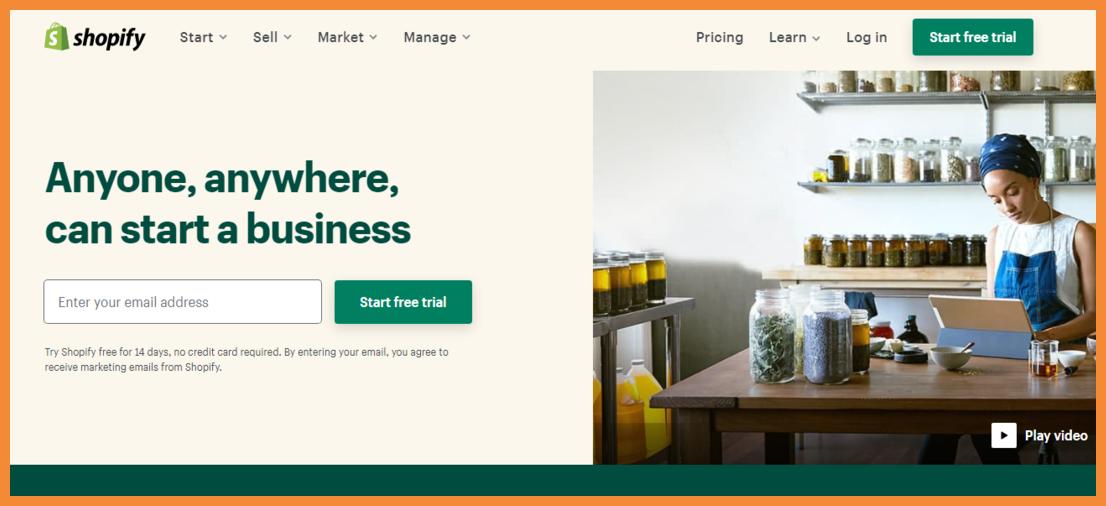 Shopify No Code E-Commerce Platforms