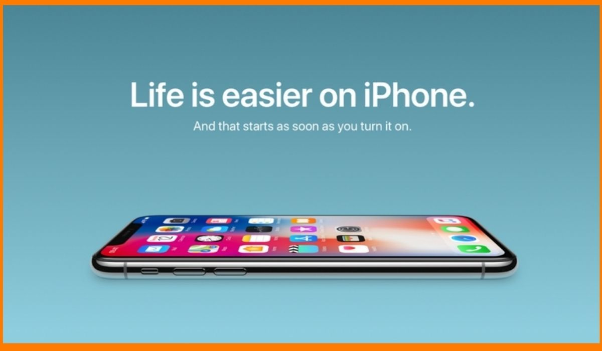 An example of a simple apple advertisement